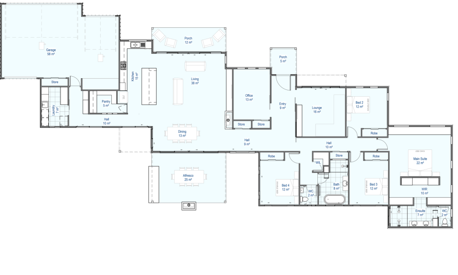Kareela custom floor plan